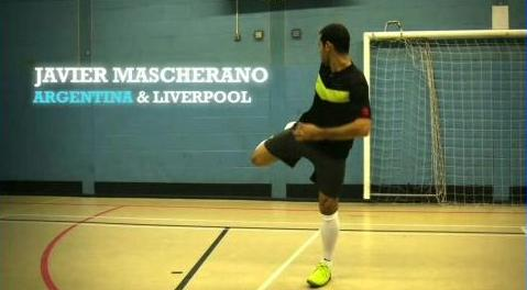 Click to play Nike Futsal Shoes Video - Javier Mascherano Argentina Liverpool
